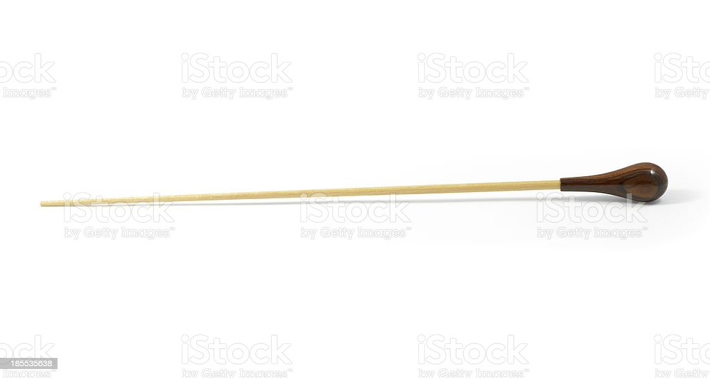 conductor's baton isolated on a white background stock photo