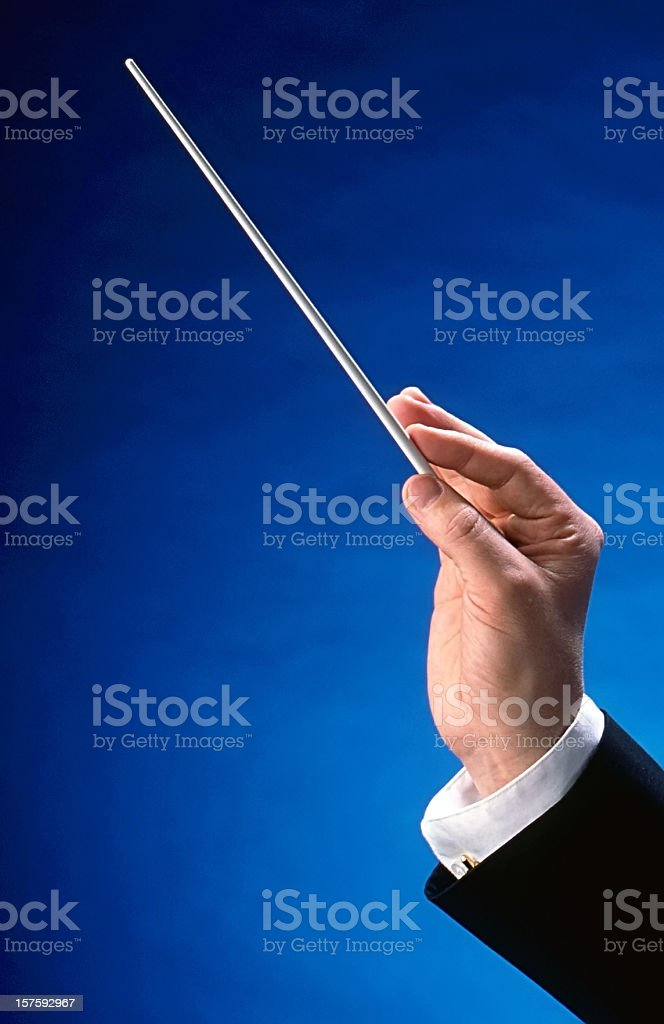 Conductor's Hand stock photo