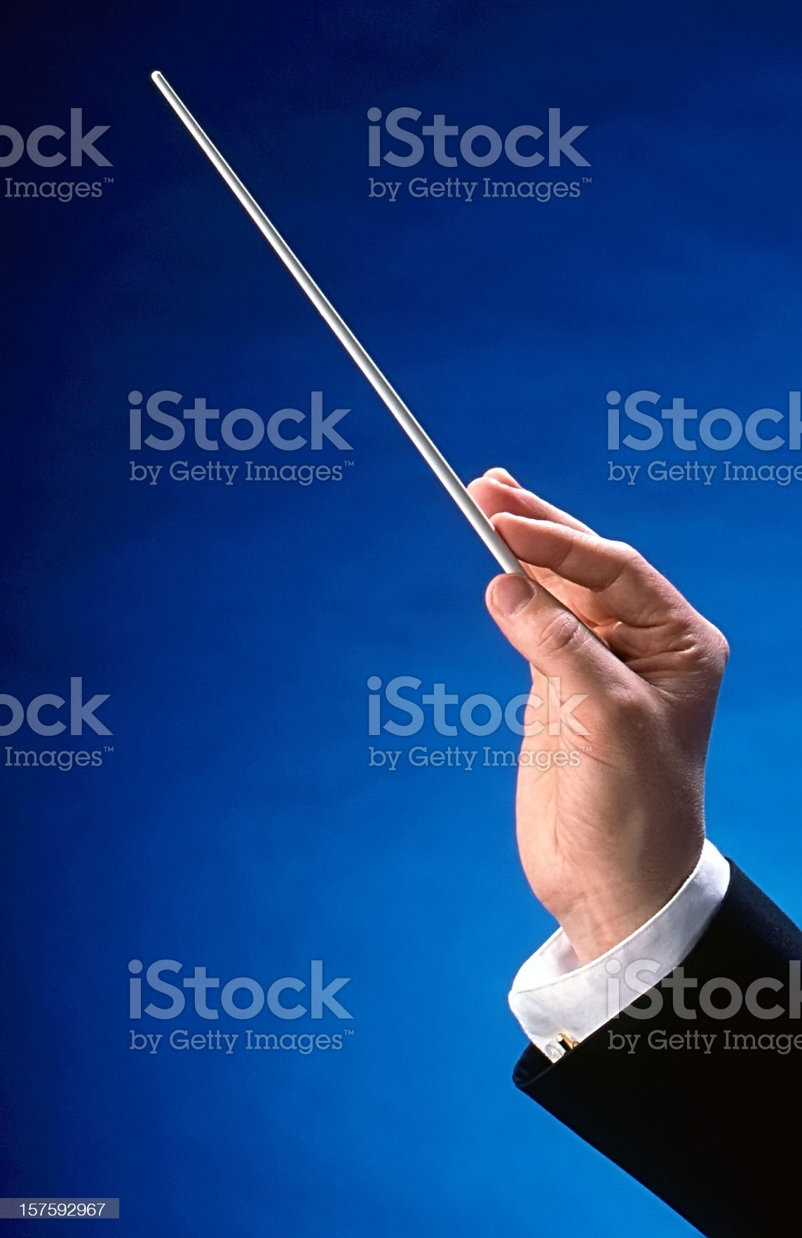 Conductor's Hand royalty-free stock photo