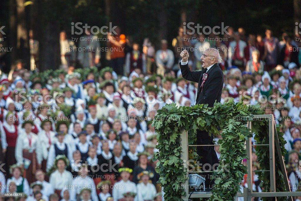 Conducts Roberts Zuika stock photo