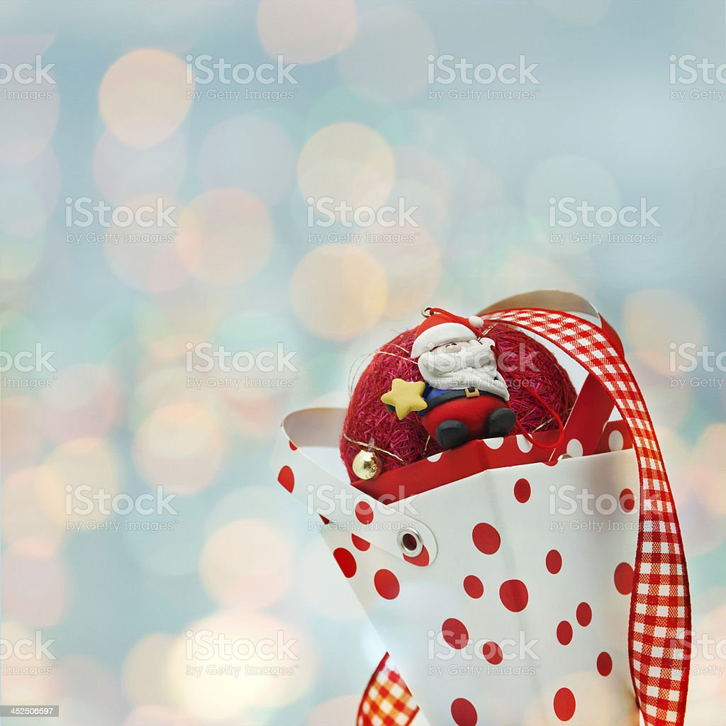 cone christmas and santa claus royalty-free stock photo