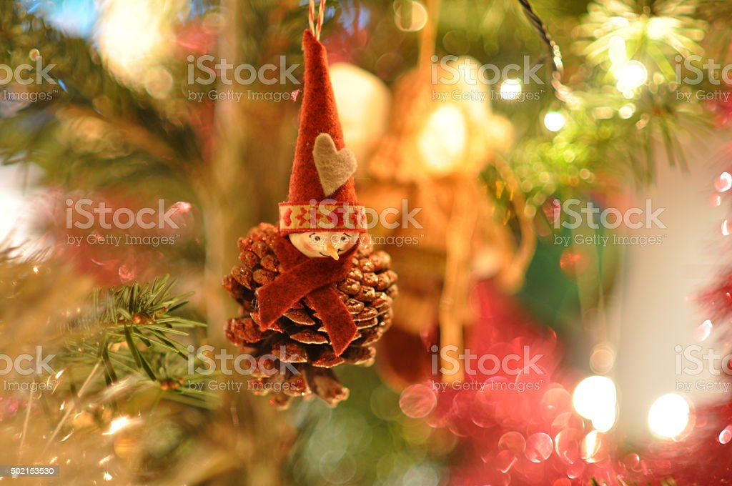 Cone clown - Christmass Tre Decoration stock photo