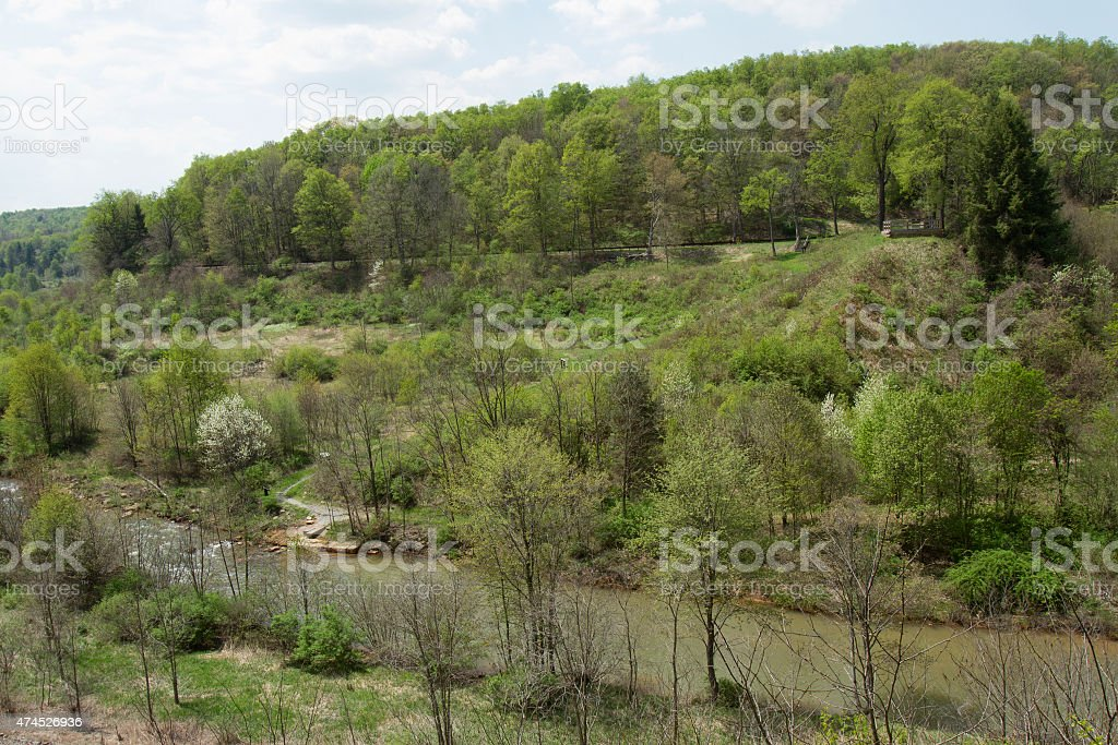 Conemaugh River stock photo
