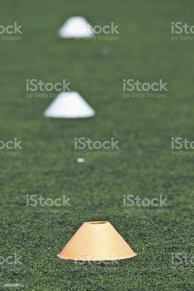 Cones for Soccer Training stock photo