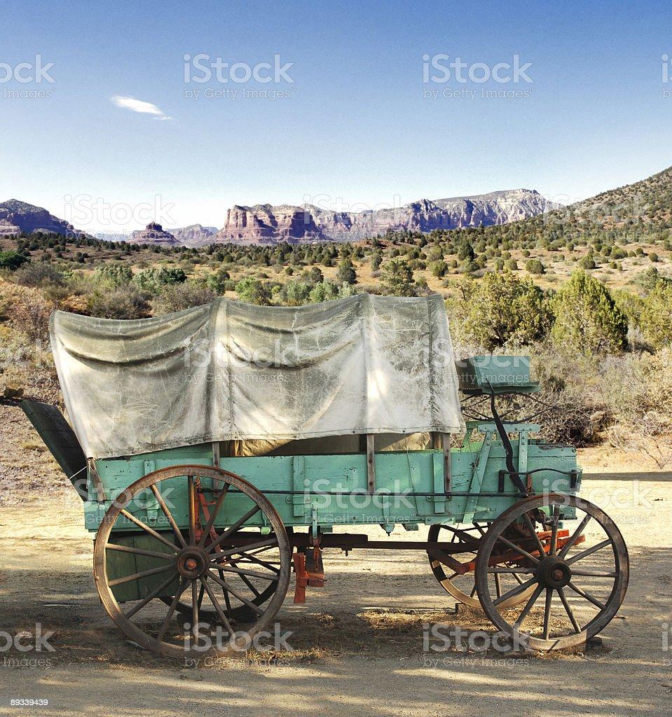 conestoga wagon stock photo