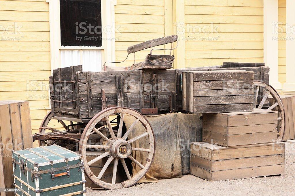 Conestoga Wagon Stagecoach Carriage Cart stock photo
