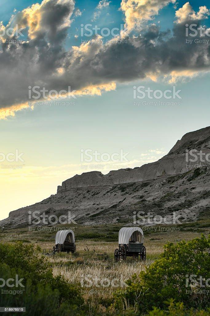 Conestoga Wagons stock photo