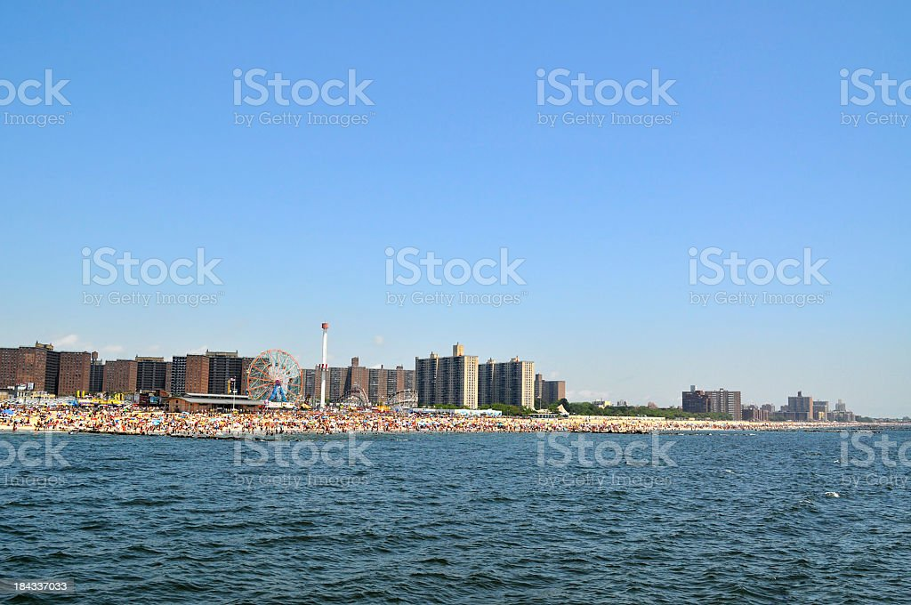 Coney Island Beach stock photo