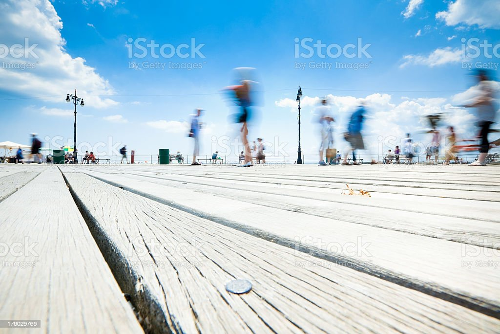 Coney Island Boardwalk at the Seaside royalty-free stock photo