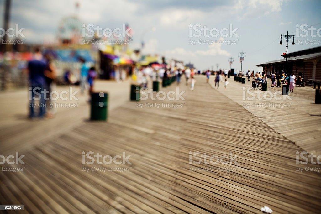 Coney Island boardwalk stock photo
