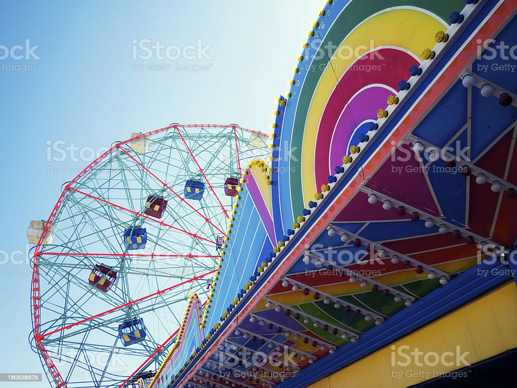 Coney Island Brooklyn New York Colorful Carnival Architecture royalty-free stock photo