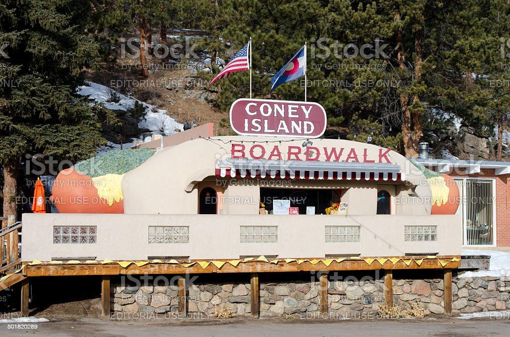 Coney Island Hot Dog Building royalty-free stock photo
