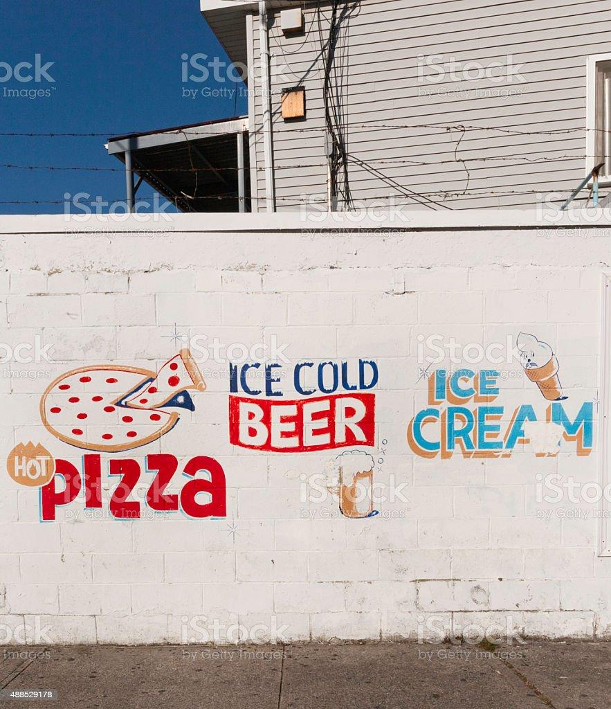 Coney Island Hot Pizza stock photo
