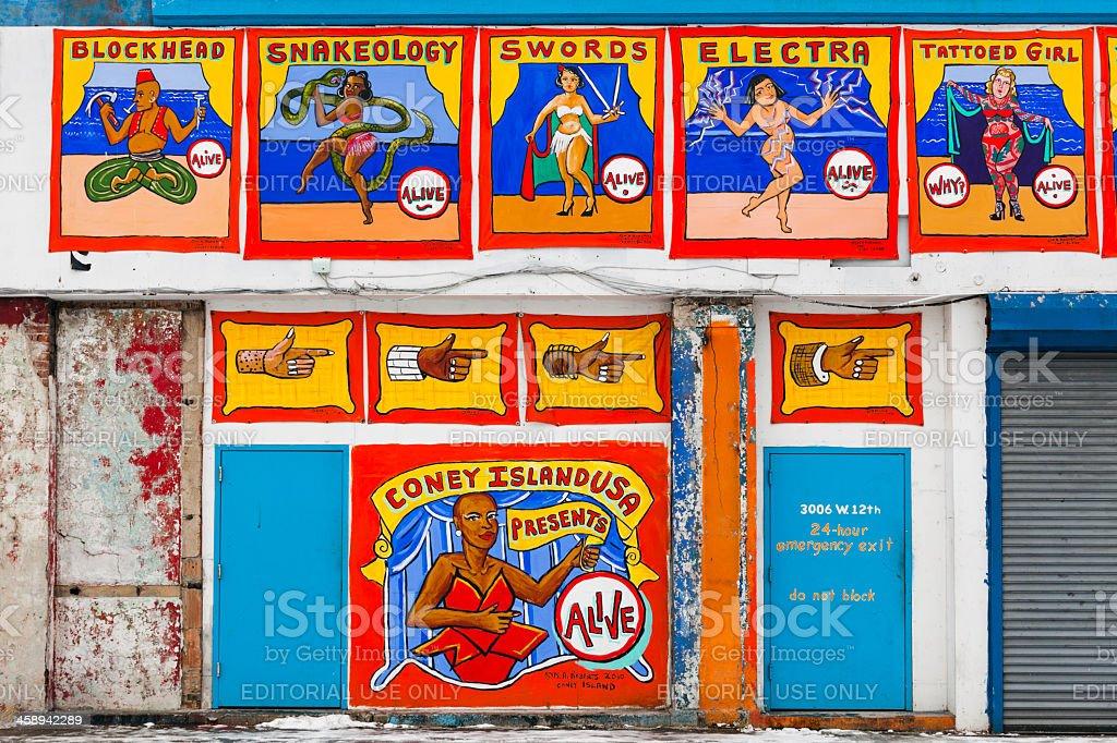 Coney Island New York stock photo