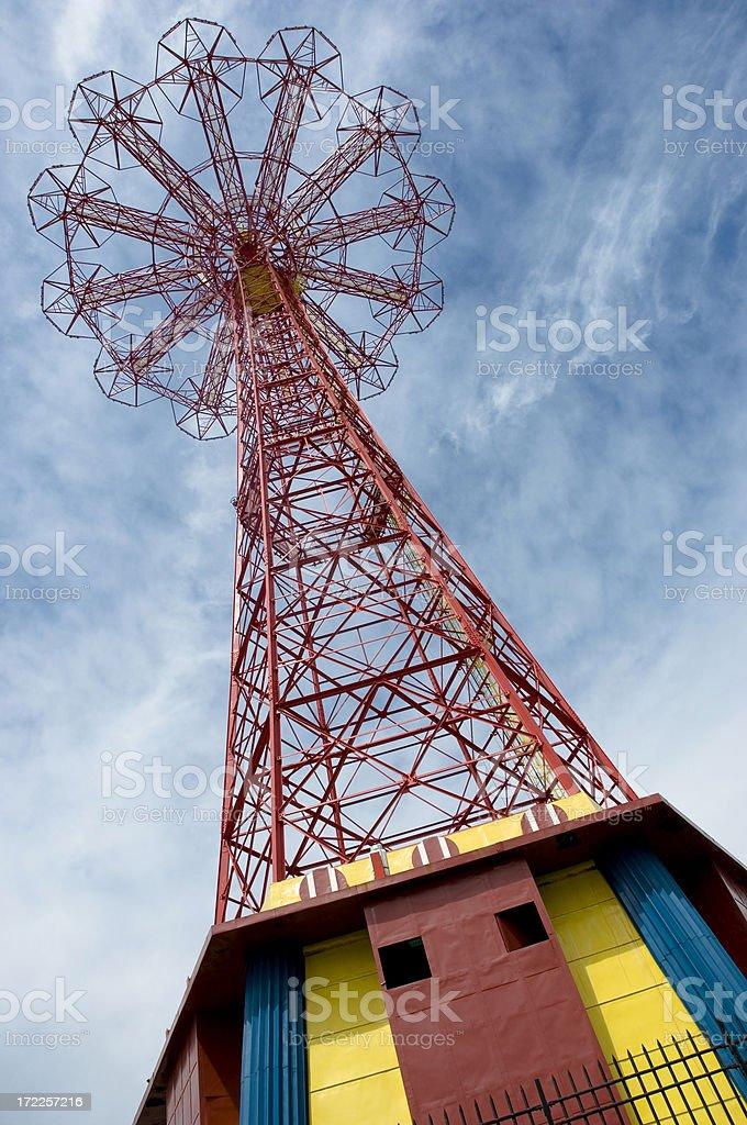 Coney Island Parachute Jump royalty-free stock photo