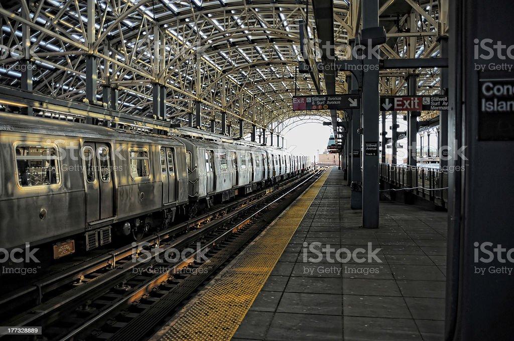 Coney Island Subway Station stock photo