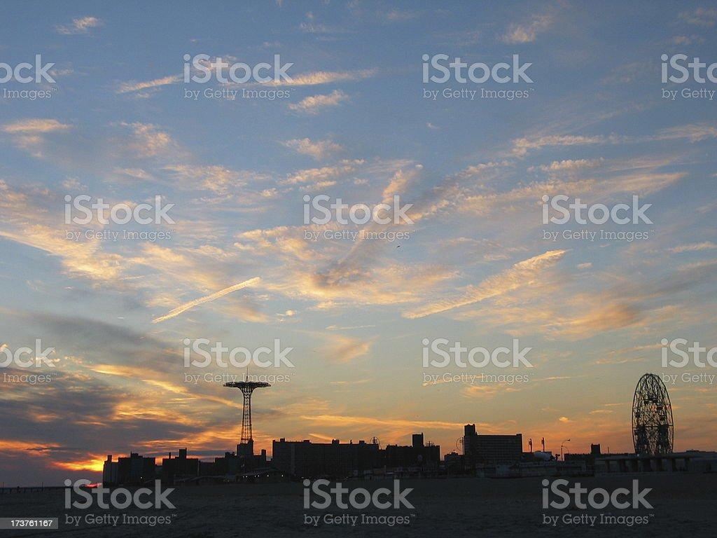 coney island sunset III royalty-free stock photo