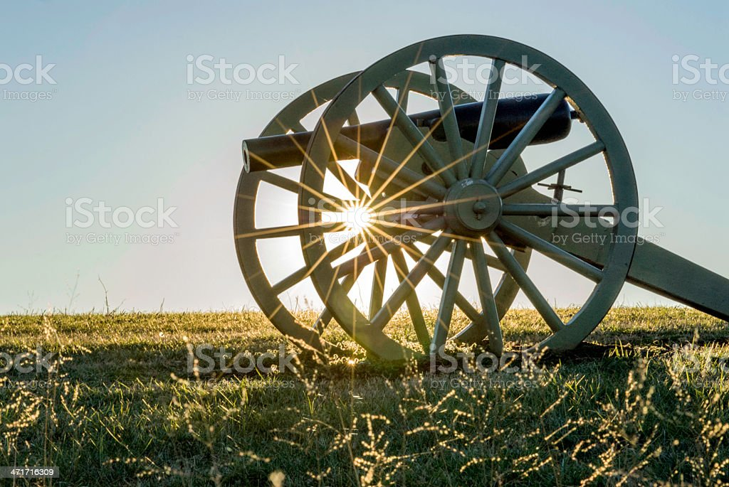 Confederate Cannon royalty-free stock photo