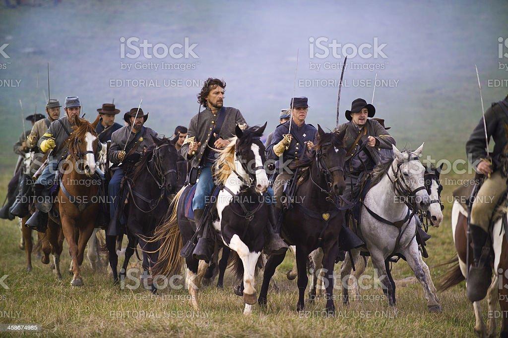Confederate Cavalry in the Shenandoah Valley, Virginia stock photo
