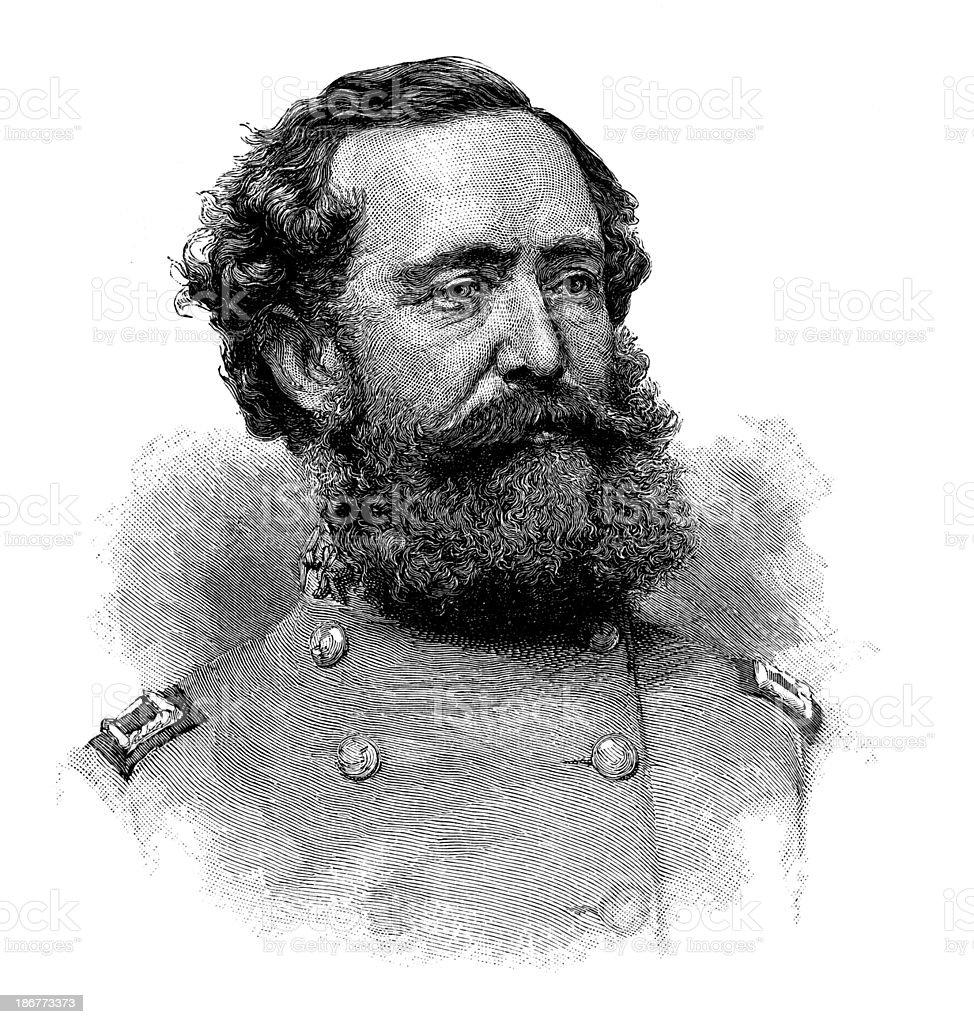 Confederate Cavalry Lieutenant General Wade Hampton. stock photo