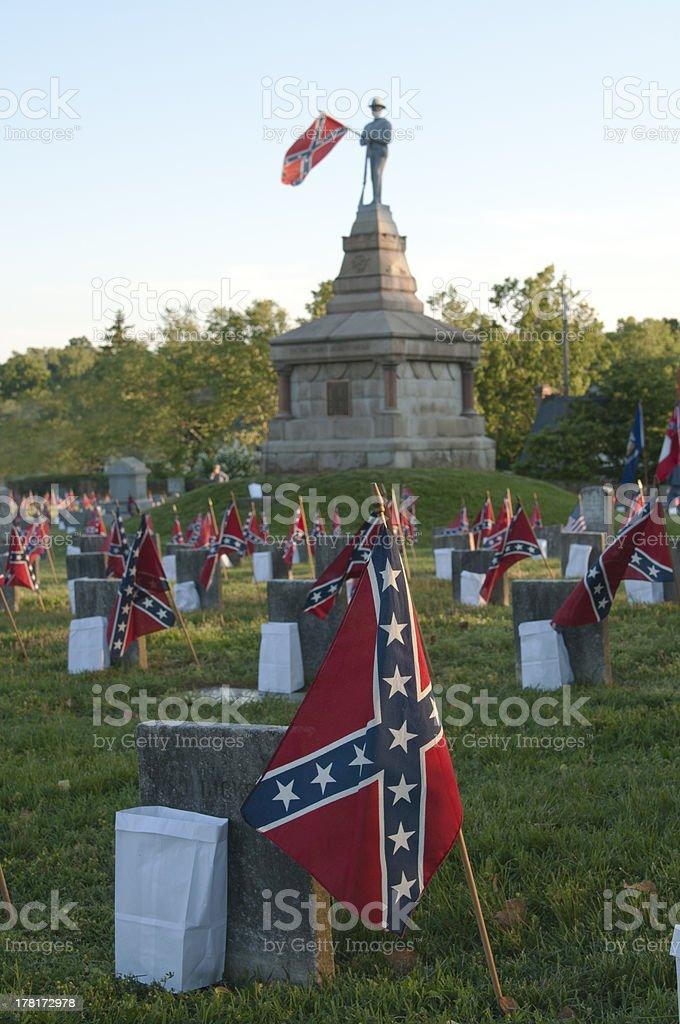 Confederate Cemetery stock photo