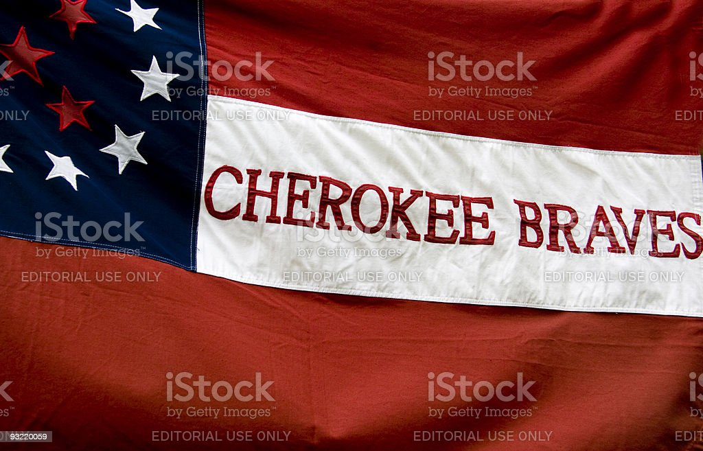 Confederate Civil War Battle Flag, Cherokee Braves royalty-free stock photo