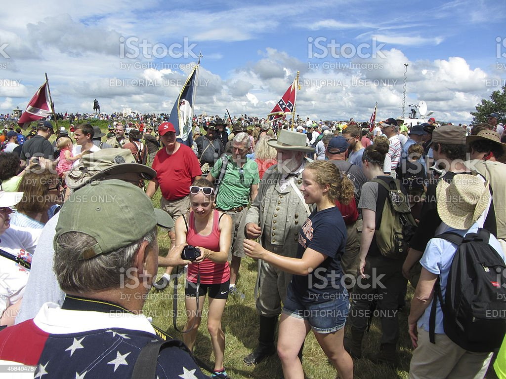 Confederate Forces Defeated royalty-free stock photo