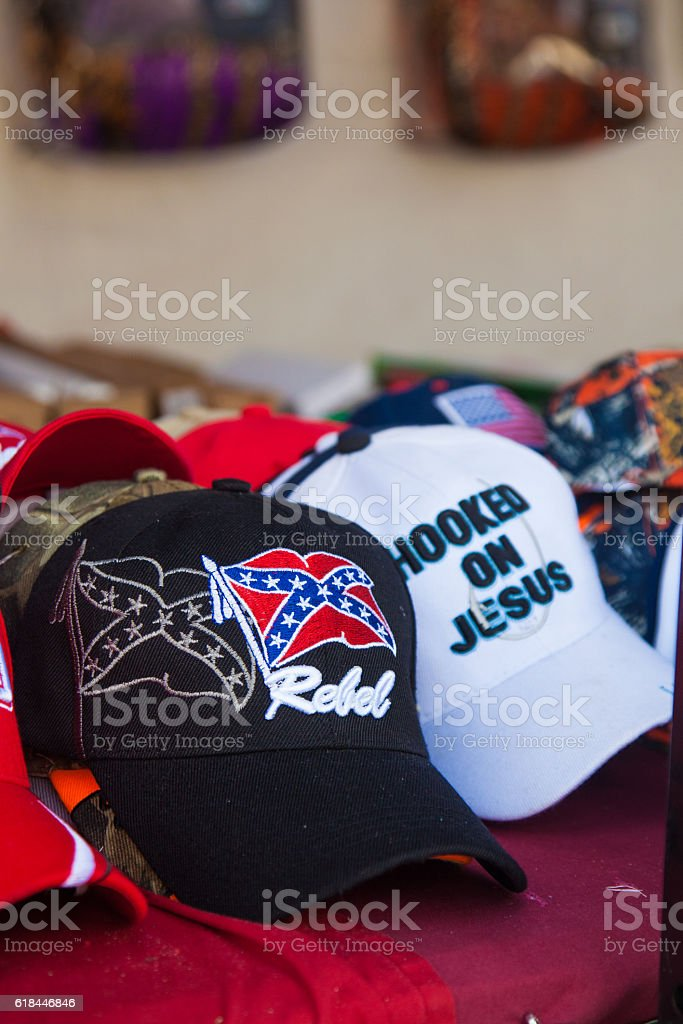 Confederate Jesus stock photo