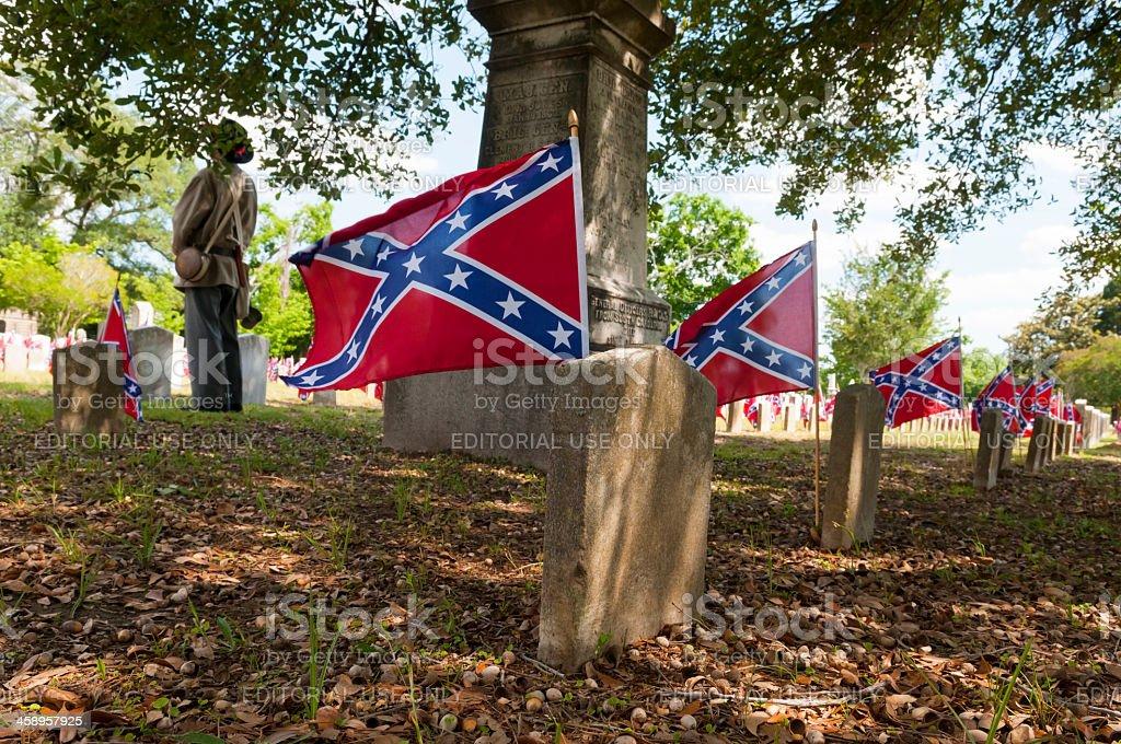 Confederate Memorial Day in Charleston stock photo