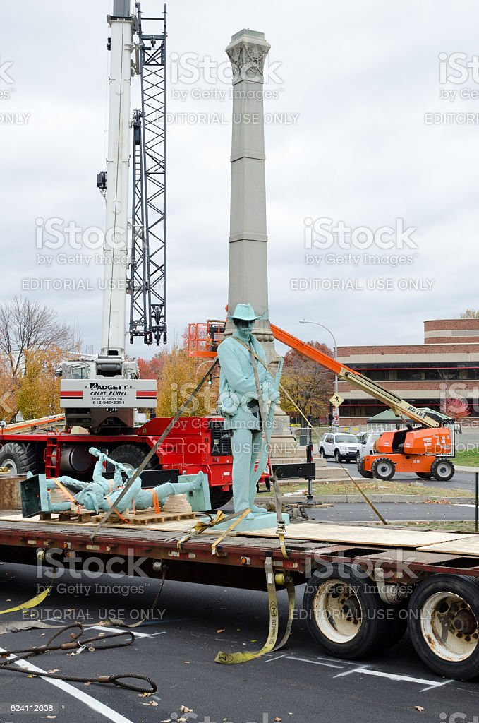 Confederate Monument stock photo