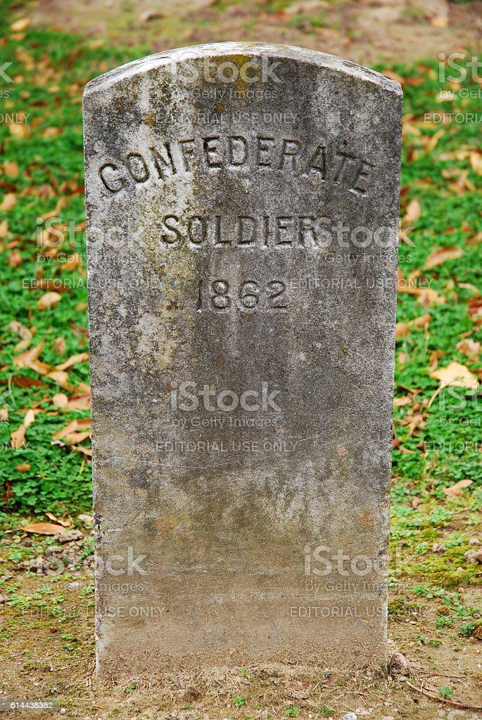 Confederate Soldier Grave stock photo
