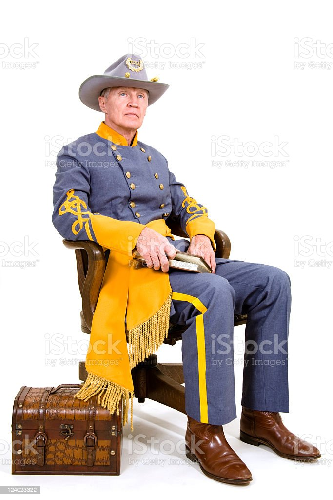 US Confederate soldier royalty-free stock photo