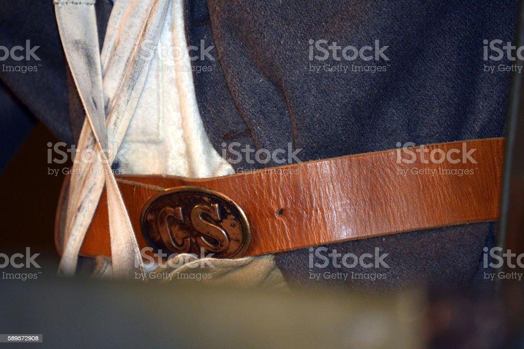 Confederate Soldier stock photo