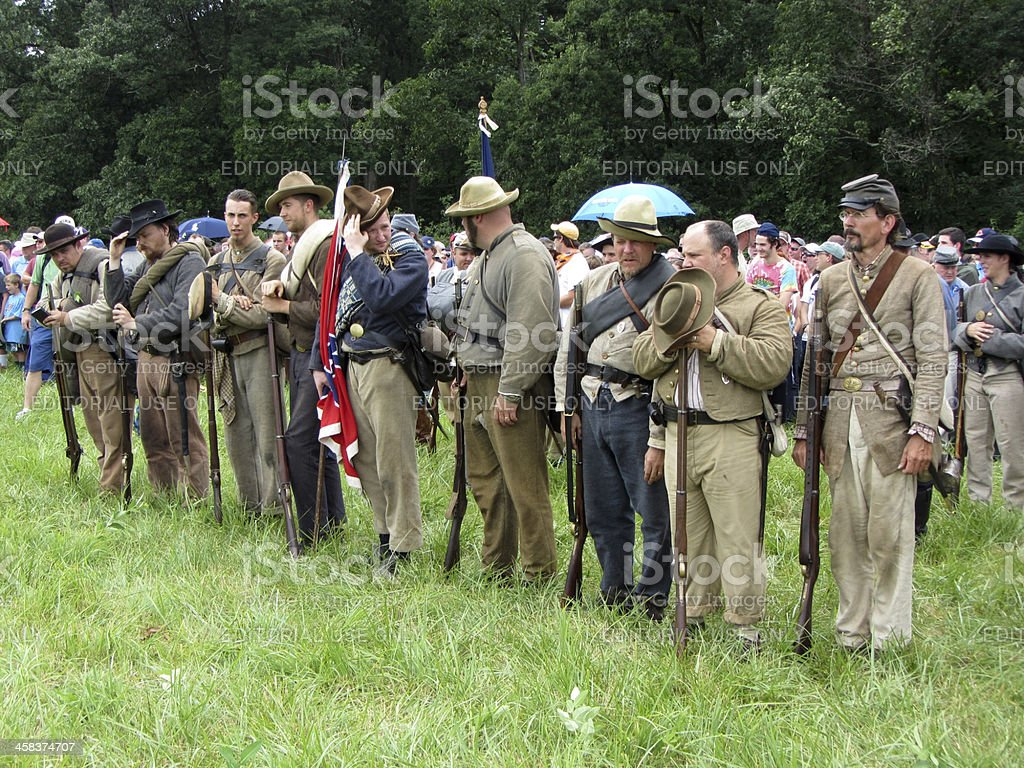 Confederate Soldiers royalty-free stock photo