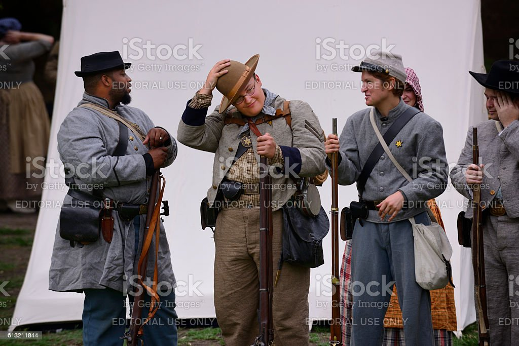Confederate soldiers stock photo