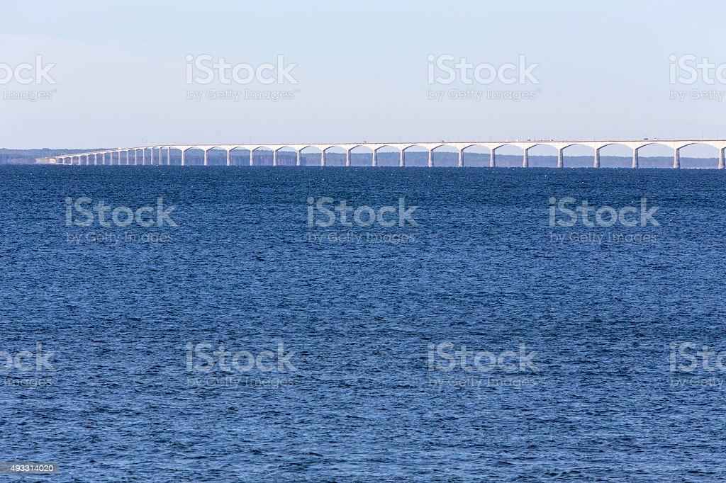 Confederation Bridge from New Brunswick to Prince Edward Island stock photo
