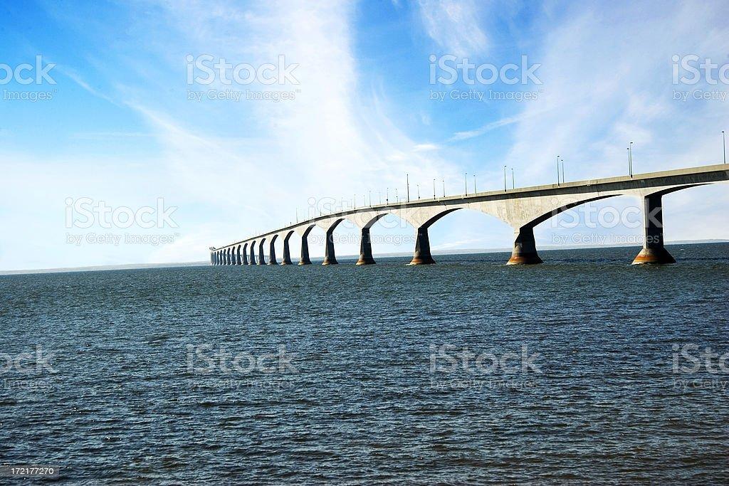 Confederation bridge royalty-free stock photo