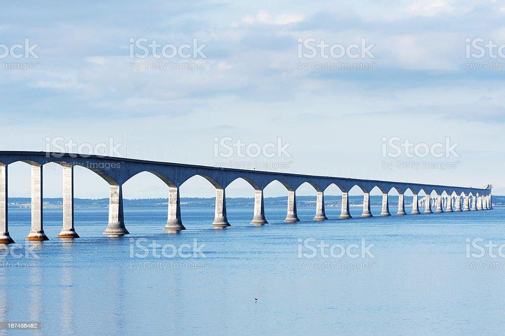 Confederation bridge stock photo
