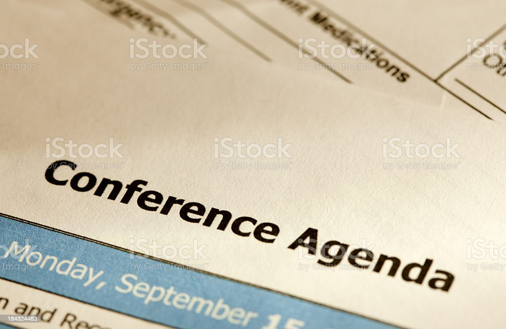 Conference agenda royalty-free stock photo