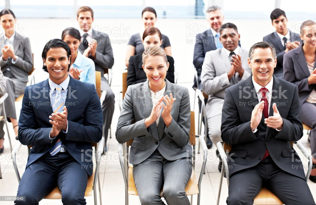 Conference Attendees Clapping royalty-free stock photo