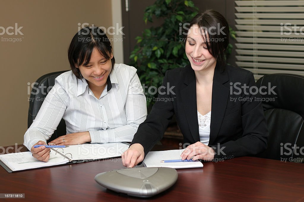 Conference Call Businesswomen royalty-free stock photo