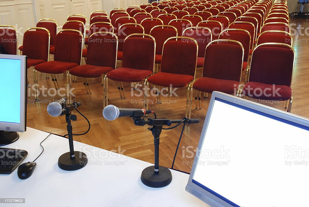 Conference can start royalty-free stock photo
