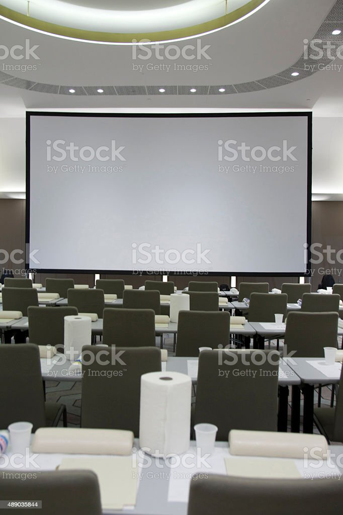 Conference centre stock photo