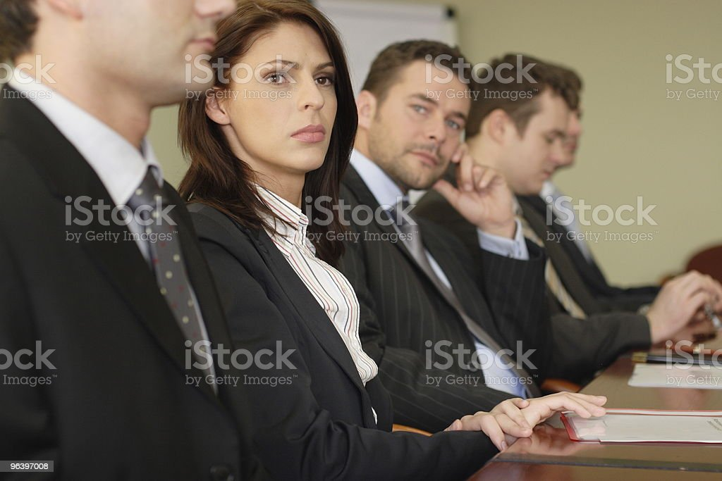Conference, group of five business people royalty-free stock photo