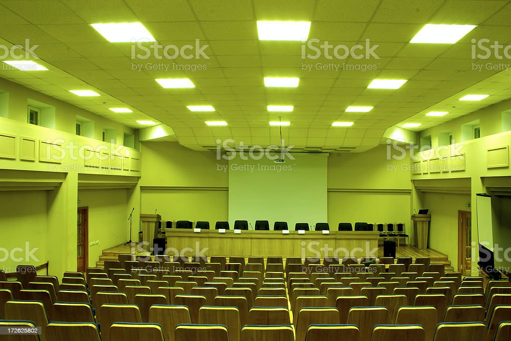 Conference hall - 10 royalty-free stock photo
