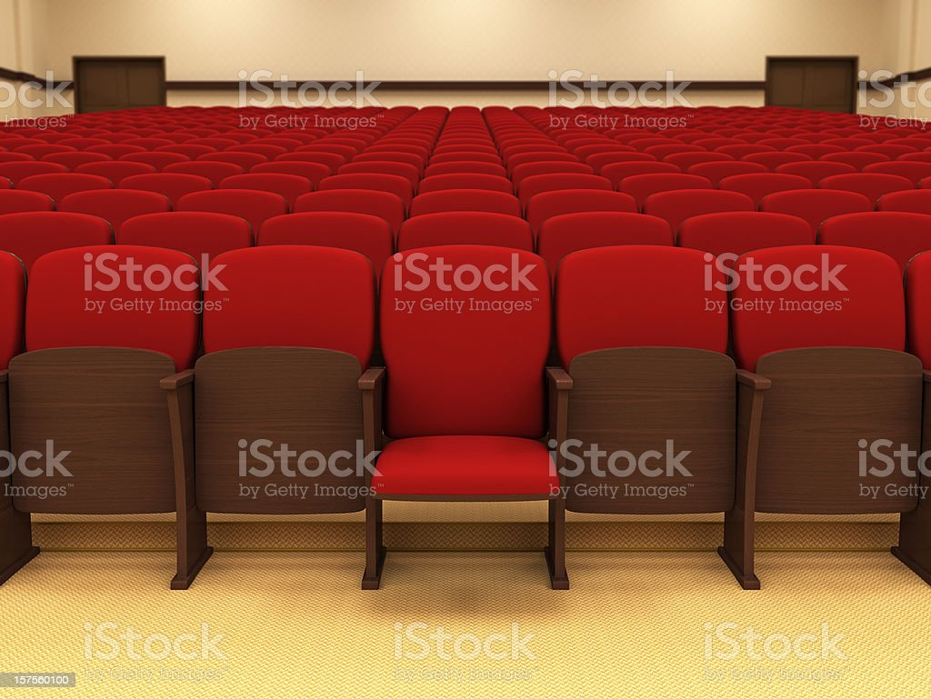 Conference Hall Concept stock photo