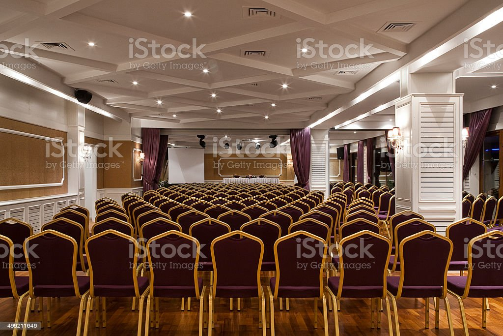 Conference Hall Empty stock photo