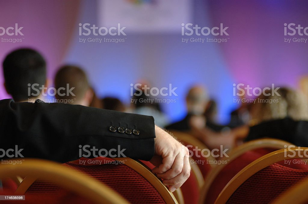 conference in hand royalty-free stock photo