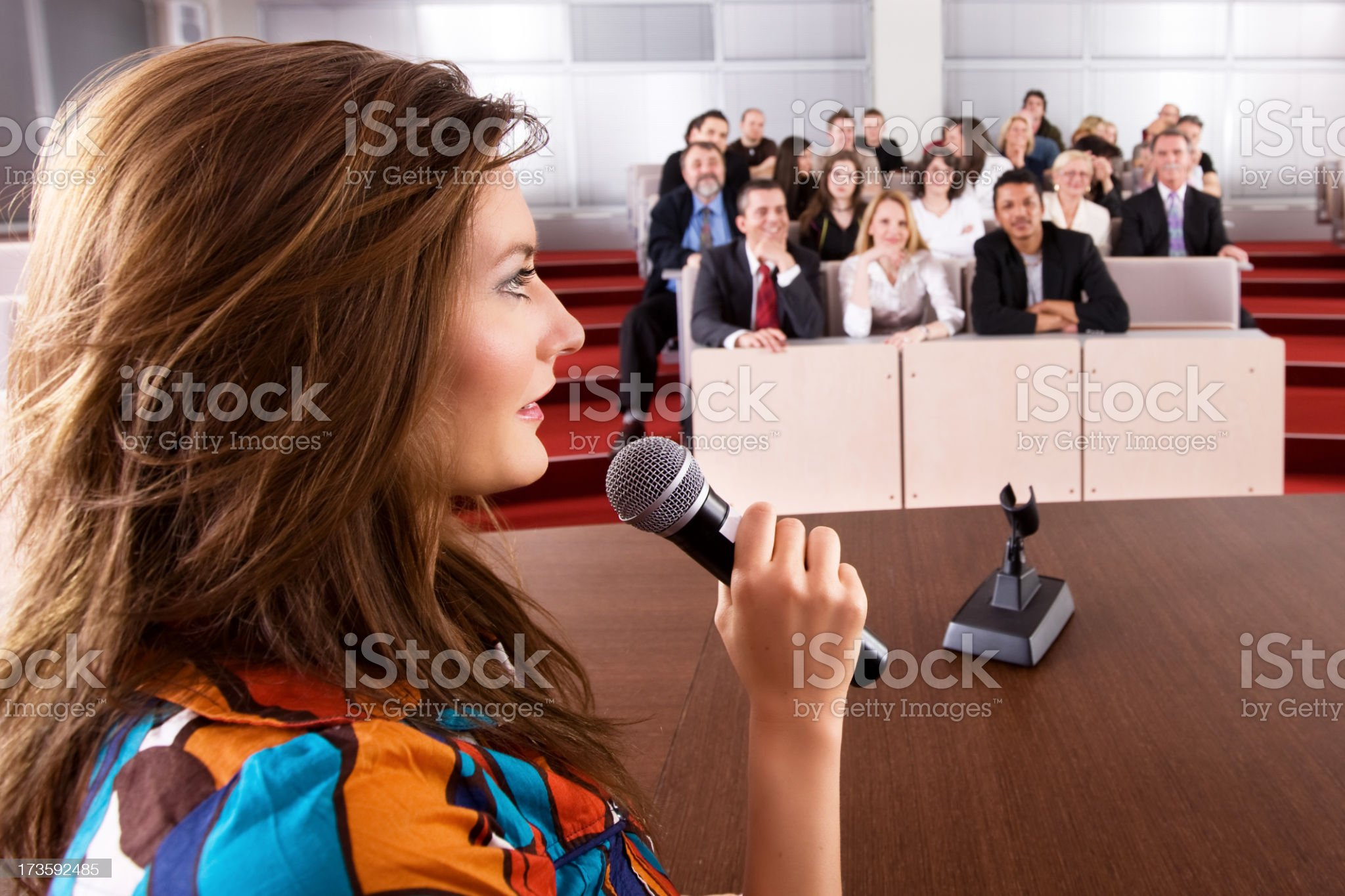 Conference meeting royalty-free stock photo