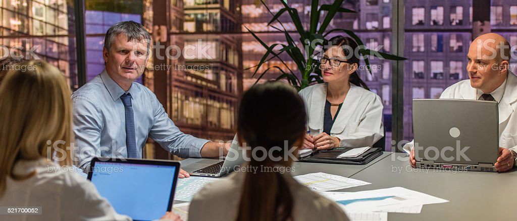 Conference meeting stock photo